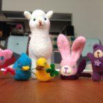 20160728/羊毛フェルト/動物たち