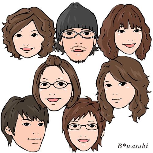和美容室/似顔絵/2009